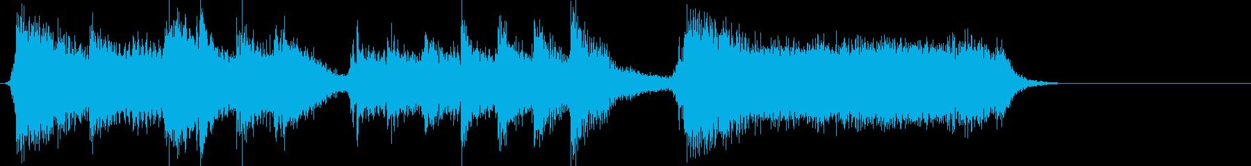 和楽器とギターのヘヴィな勢いあるジングルの再生済みの波形