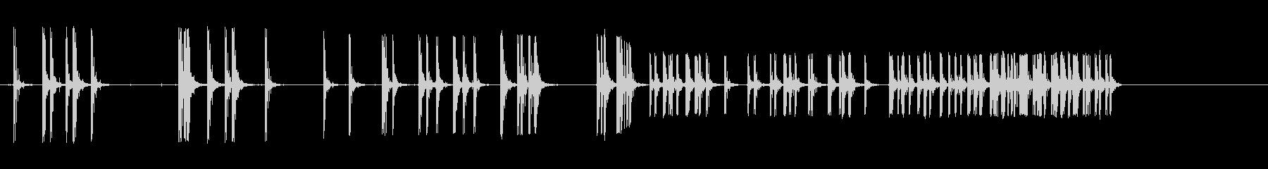 爆竹爆発;複数。の未再生の波形