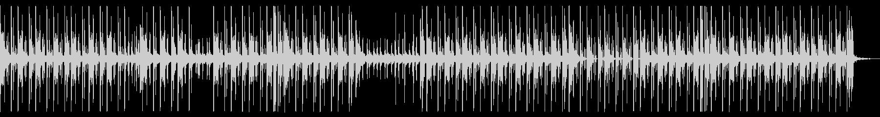 シンプルで不良っぽいヒップホップの未再生の波形