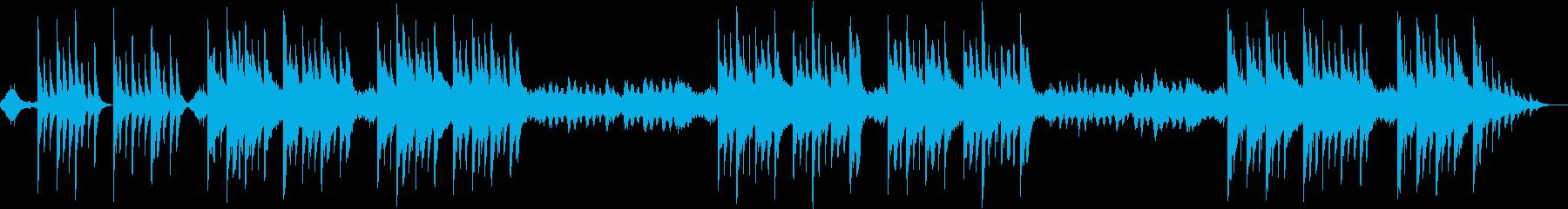 優しく奏で続けられるヒーリング音楽の再生済みの波形