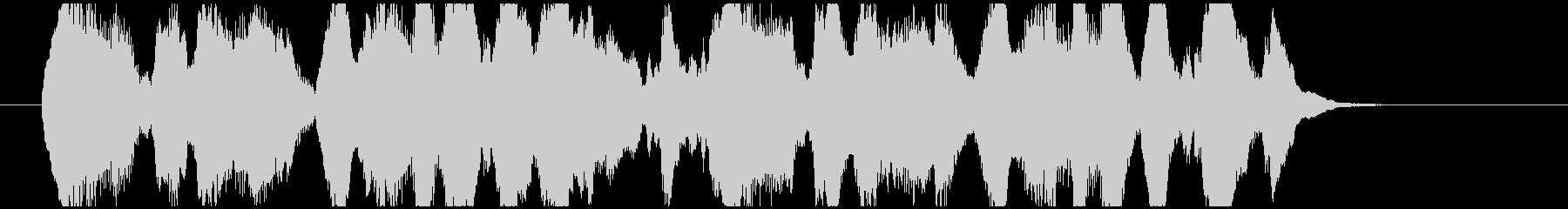 クラリネットとマリンバの楽しげなジングルの未再生の波形
