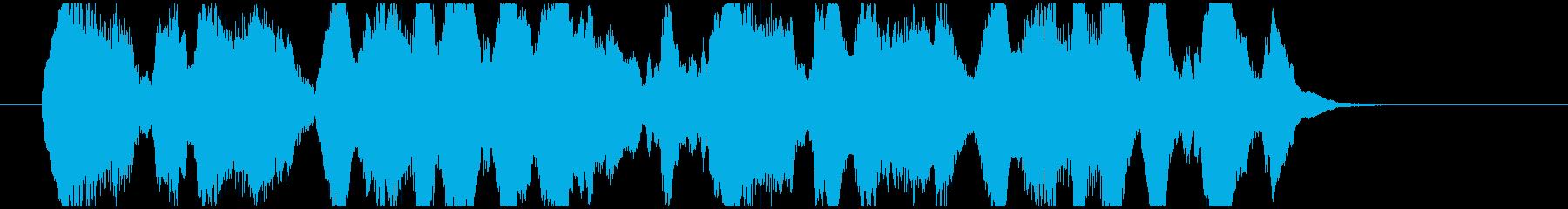 クラリネットとマリンバの楽しげなジングルの再生済みの波形