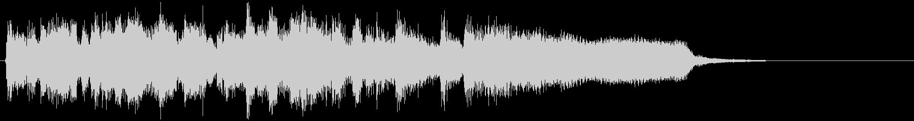 超早いスイングの爽快ジャズサウンドロゴの未再生の波形