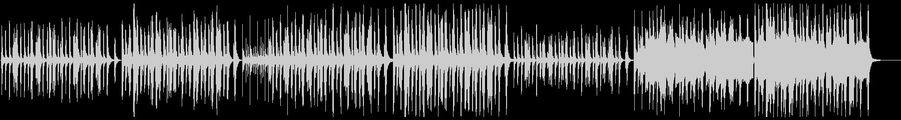 のんびりコミカルな木管とピアノの未再生の波形
