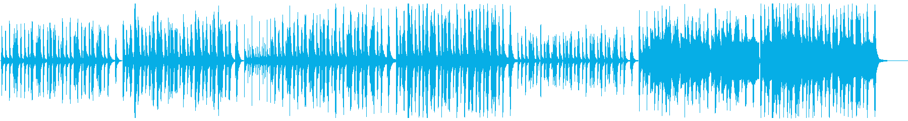 のんびりコミカルな木管とピアノの再生済みの波形