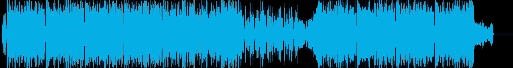 バラエティ系番組煽りBGMの再生済みの波形
