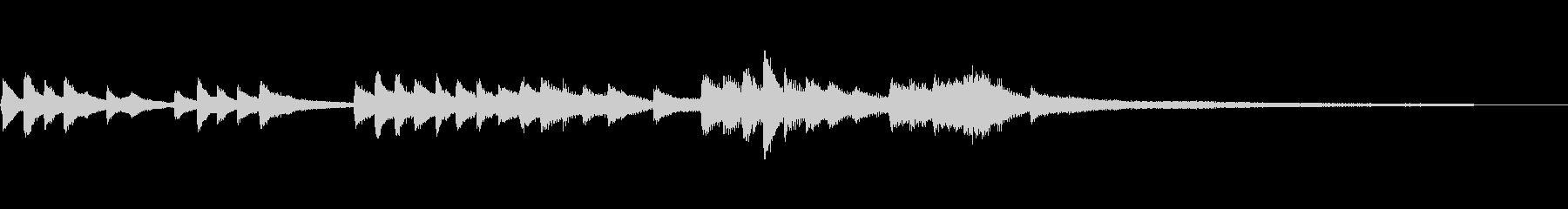 和風のジングル5b-タックピアノの未再生の波形
