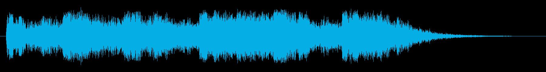 嵐の海の再生済みの波形