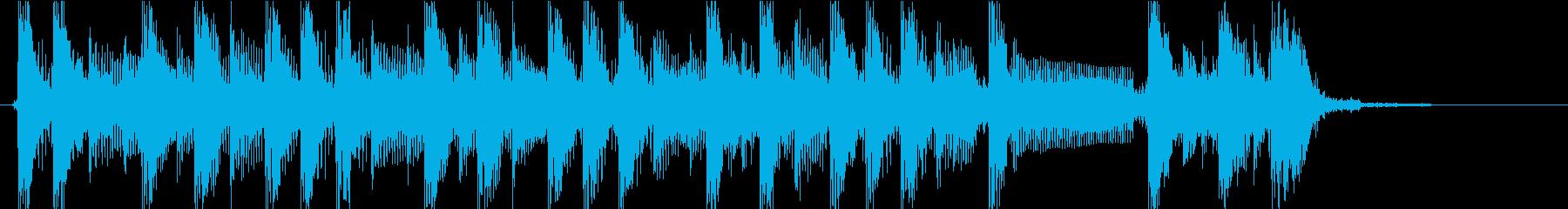 怪しい雰囲気ジングルの再生済みの波形