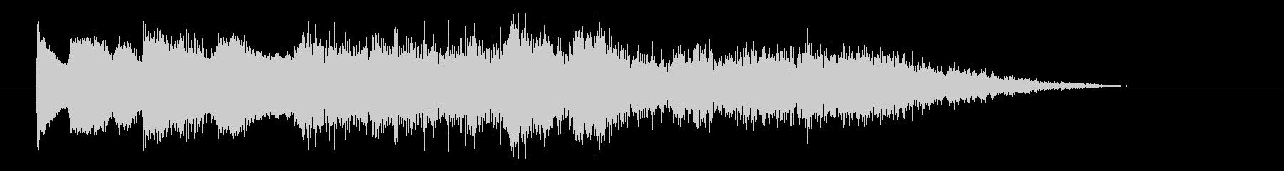 ピンポン「正解」→ ラッパ+ドンドンの未再生の波形