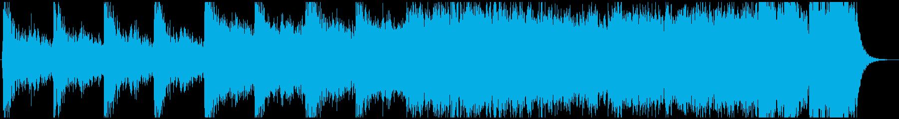 アクション映画予告編風(約1分)の再生済みの波形