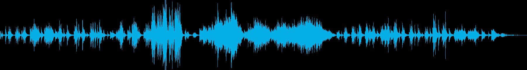 ドビュッシーの人気曲、月の光です。の再生済みの波形