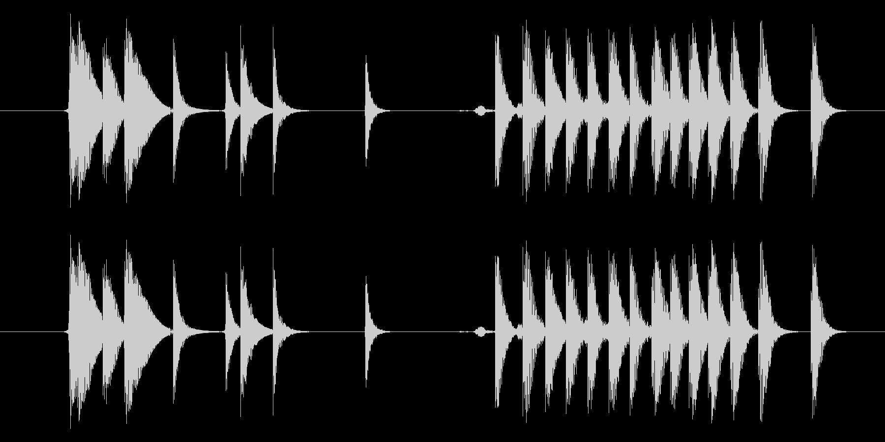 モンスター げっぷ02の未再生の波形