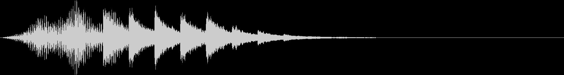 暮らしの音 入店 ベル コンビニの未再生の波形