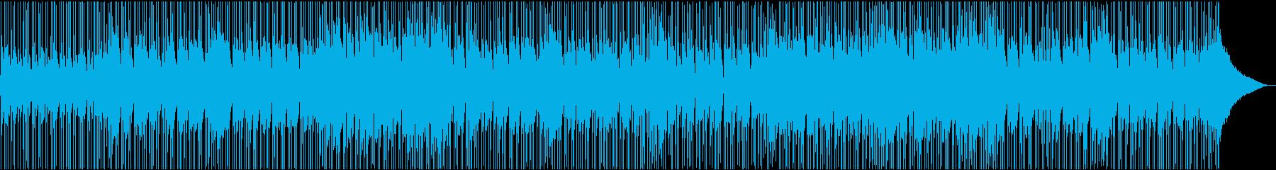 アコギ生演奏のポップで明るい映像用BGMの再生済みの波形