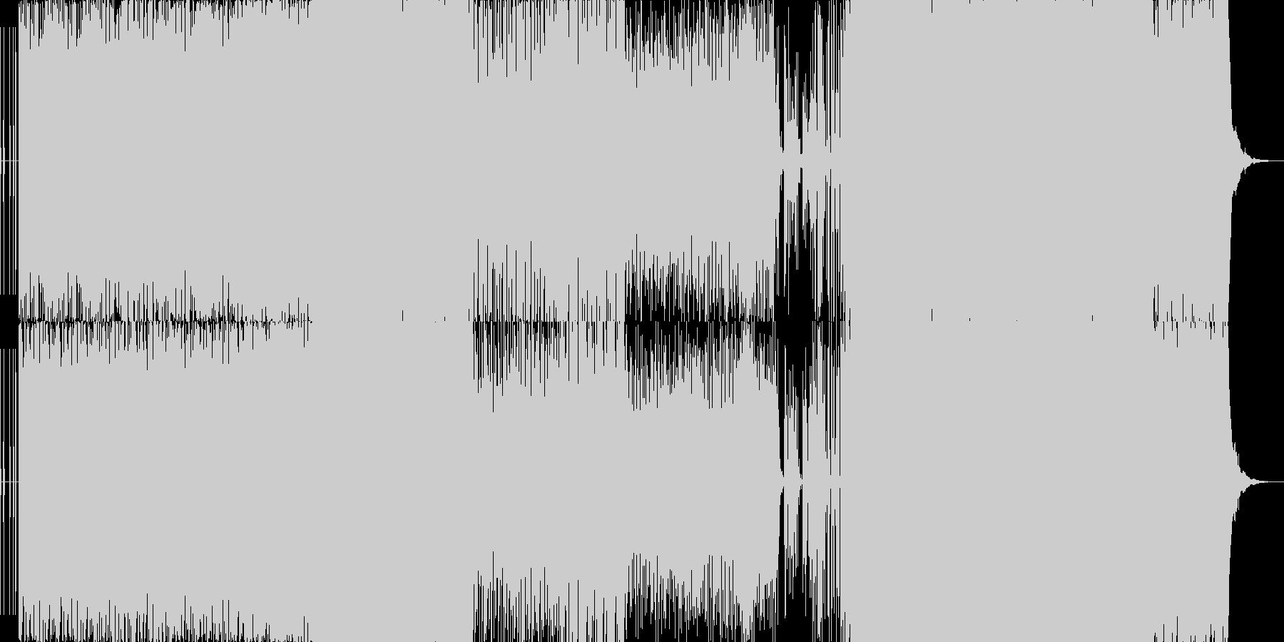 砂漠感のあるノリノリなEDMの未再生の波形