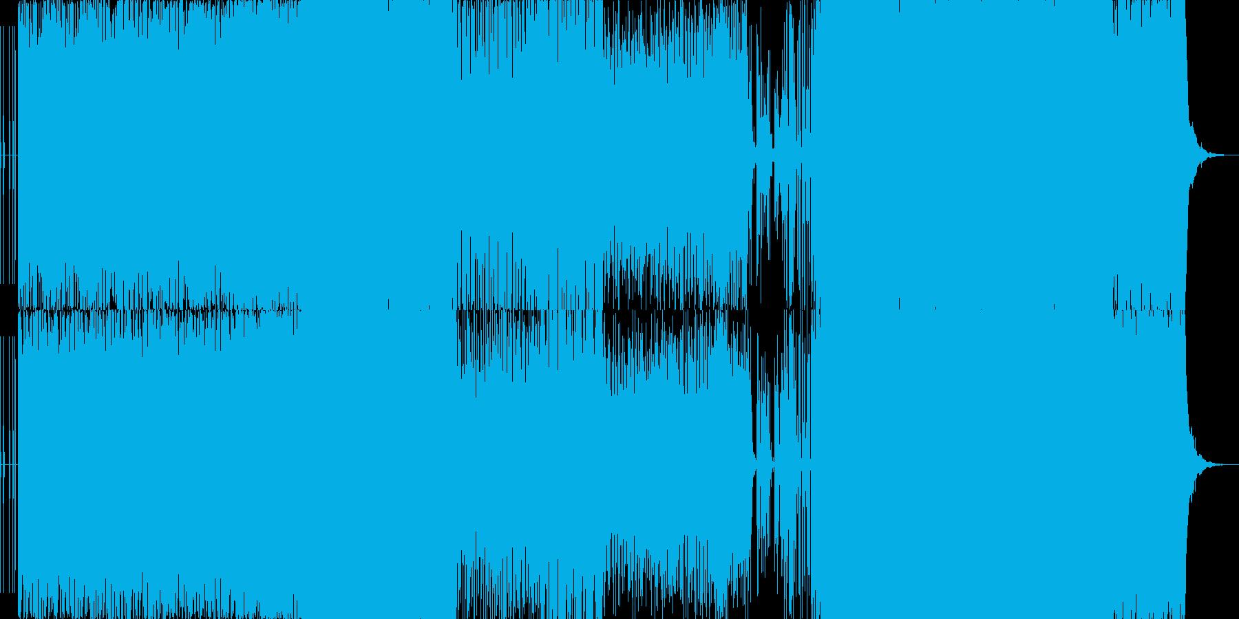砂漠感のあるノリノリなEDMの再生済みの波形