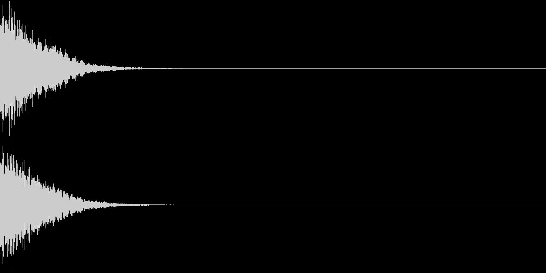 刀 剣 カキーン シャキーン 目立つ08の未再生の波形