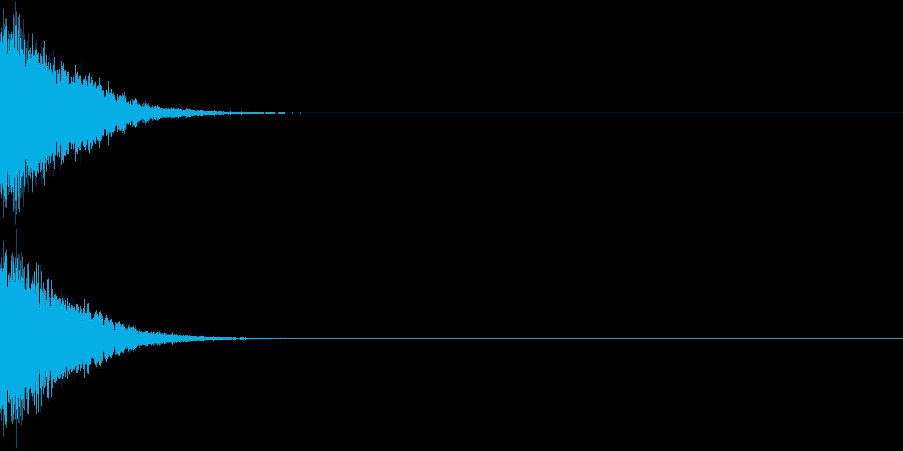 刀 剣 カキーン シャキーン 目立つ08の再生済みの波形