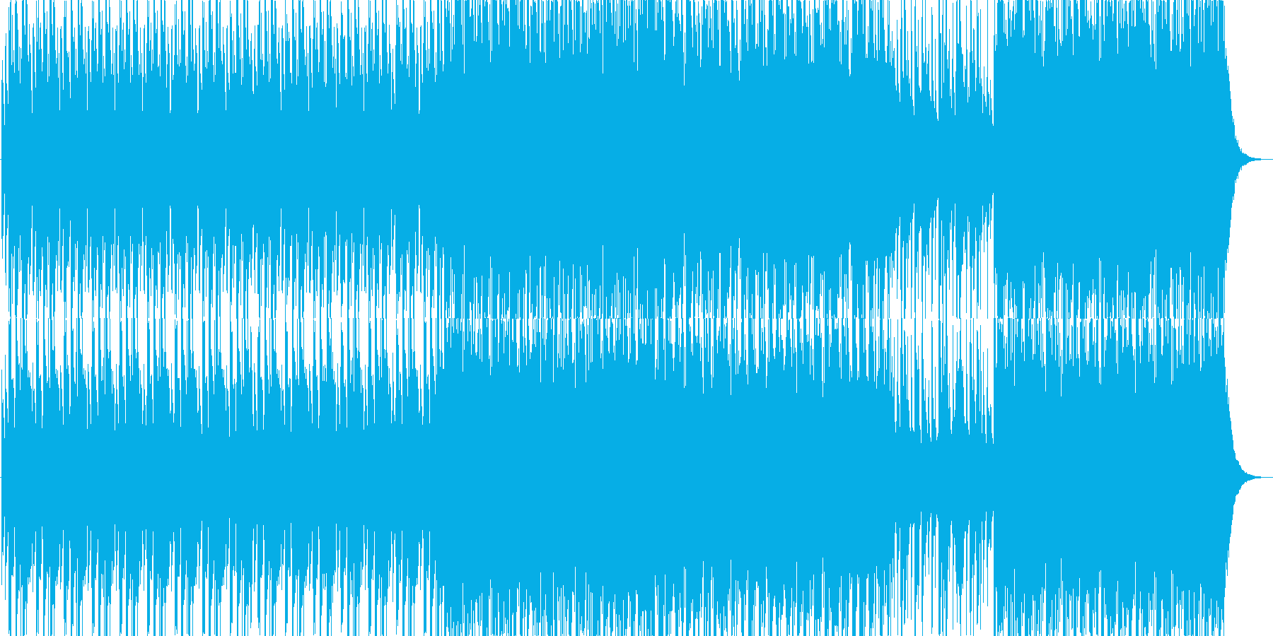 太鼓を使用したBGMです。の再生済みの波形