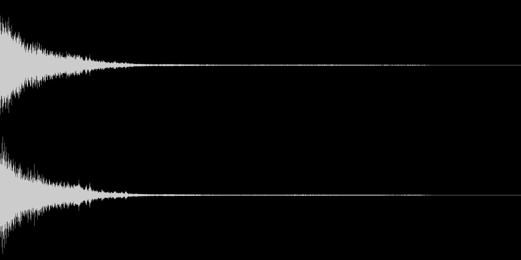 ホラー系アタック音24の未再生の波形