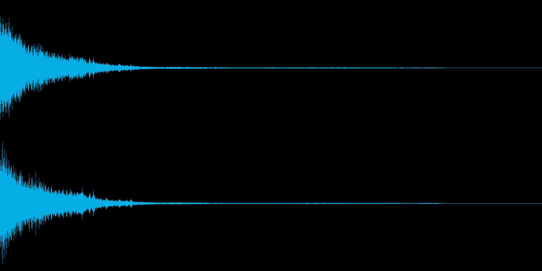 ホラー系アタック音24の再生済みの波形