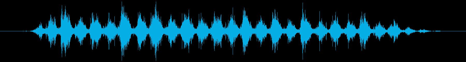 歯磨きする音 短め(シャカシャカ…)の再生済みの波形