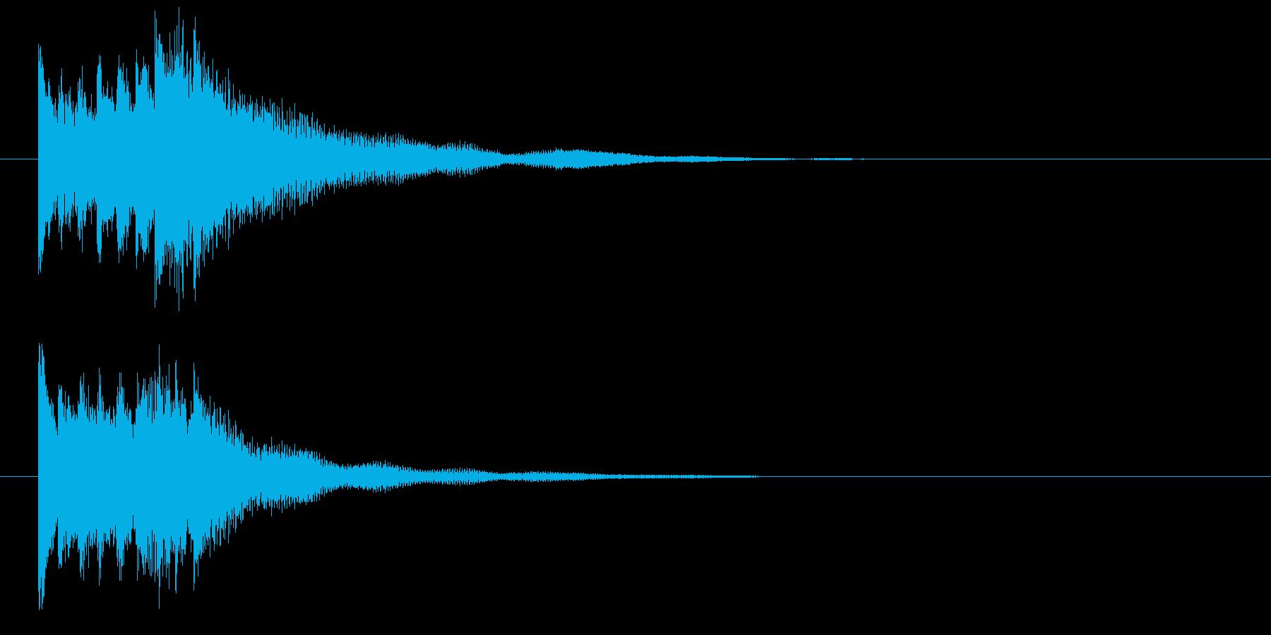 琴による和風ジングル・下行の再生済みの波形