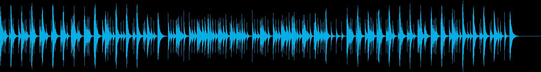 オルゴールの優しくてしんみりするBGMの再生済みの波形