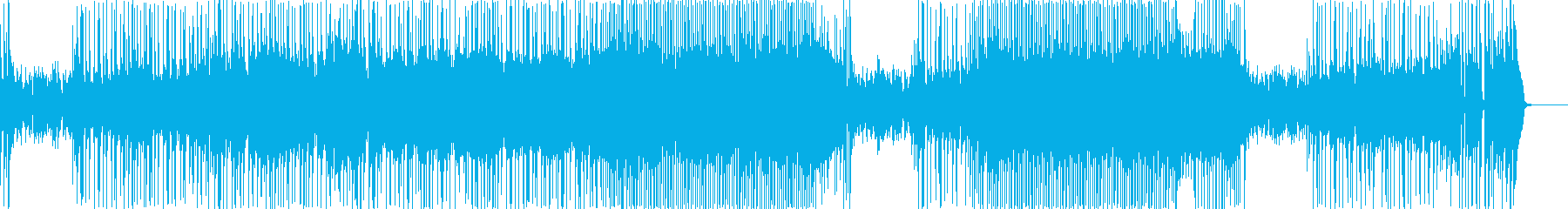 夏をイメージしたファンキーチューンの再生済みの波形