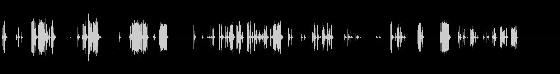 バリバリバリバリ(接触不良)の未再生の波形