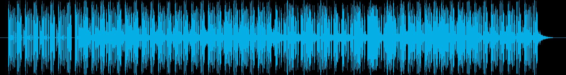 軽快でコミカルなエレクトロミュージックの再生済みの波形