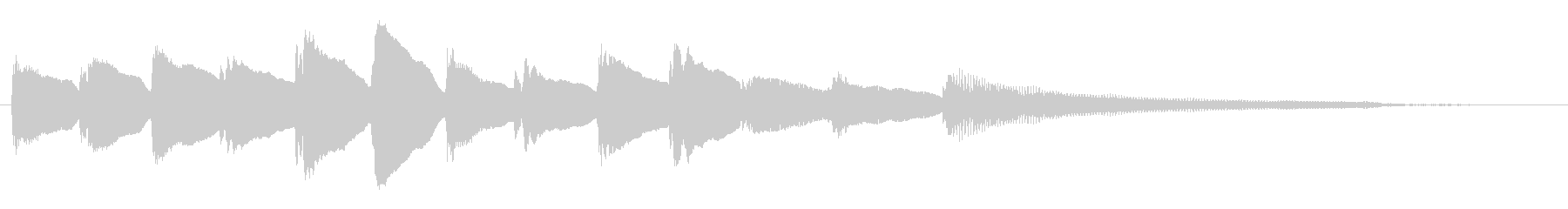 短いピアノサウンドロゴ_ジングル4秒の未再生の波形