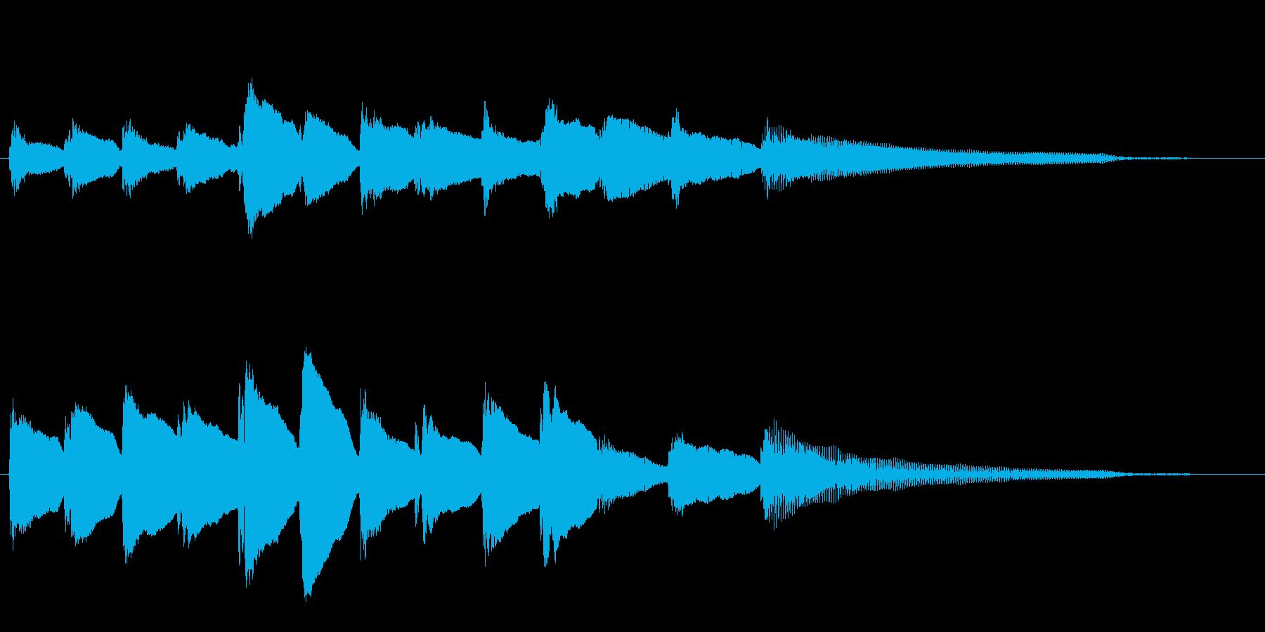 短いピアノサウンドロゴ_ジングル4秒の再生済みの波形