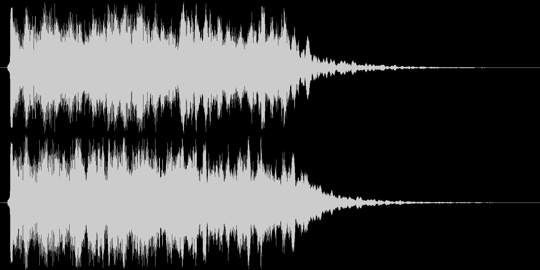しっとり感シンセサイザーサウンド短めの未再生の波形