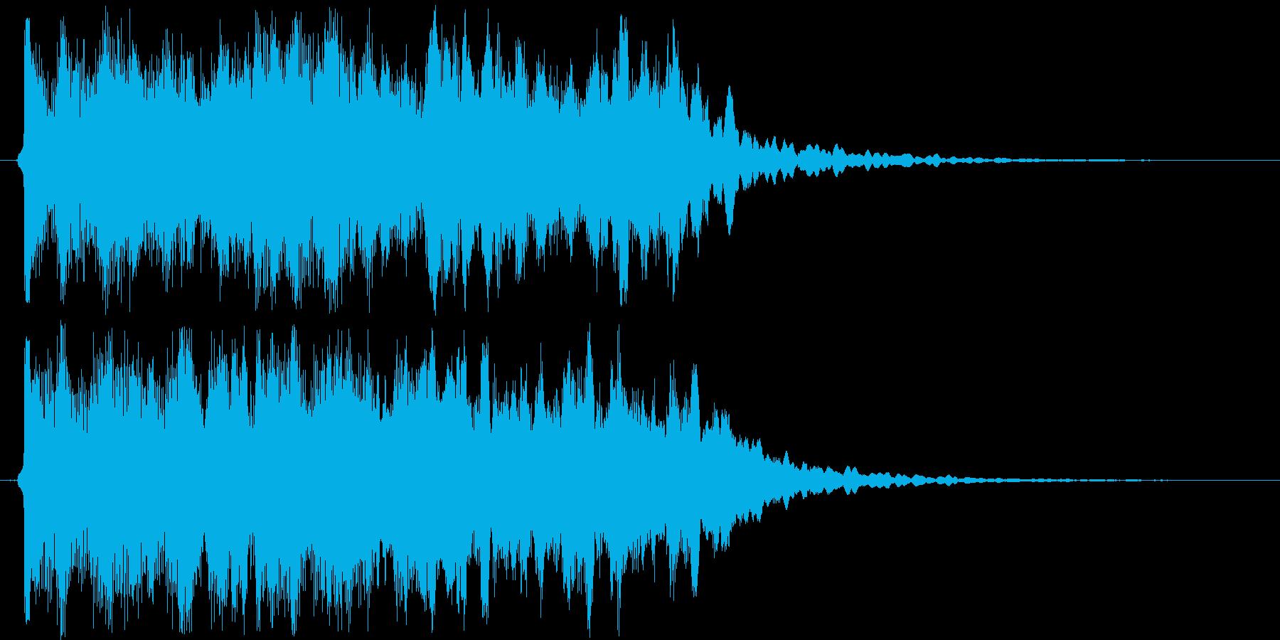 しっとり感シンセサイザーサウンド短めの再生済みの波形
