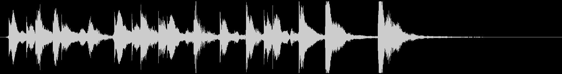 のほほんジングル031_かわいい-3の未再生の波形