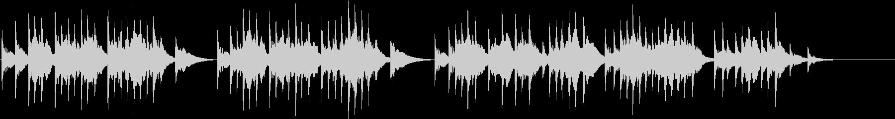 ソルベーグの歌  オルゴールの未再生の波形