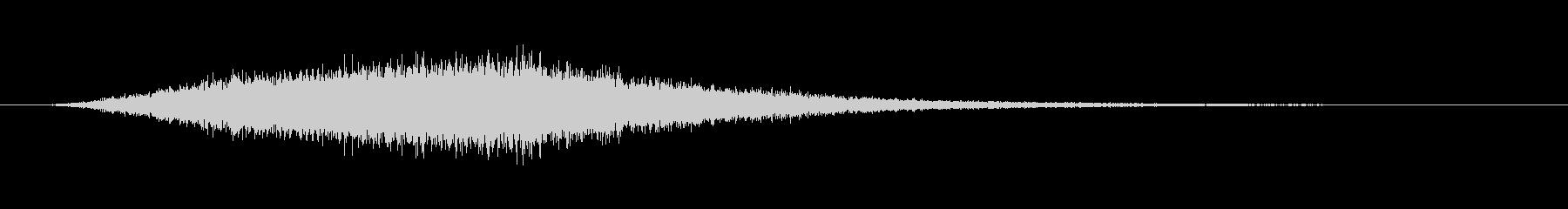 ヒューンと伸びてドンと衝撃のSF系の音の未再生の波形