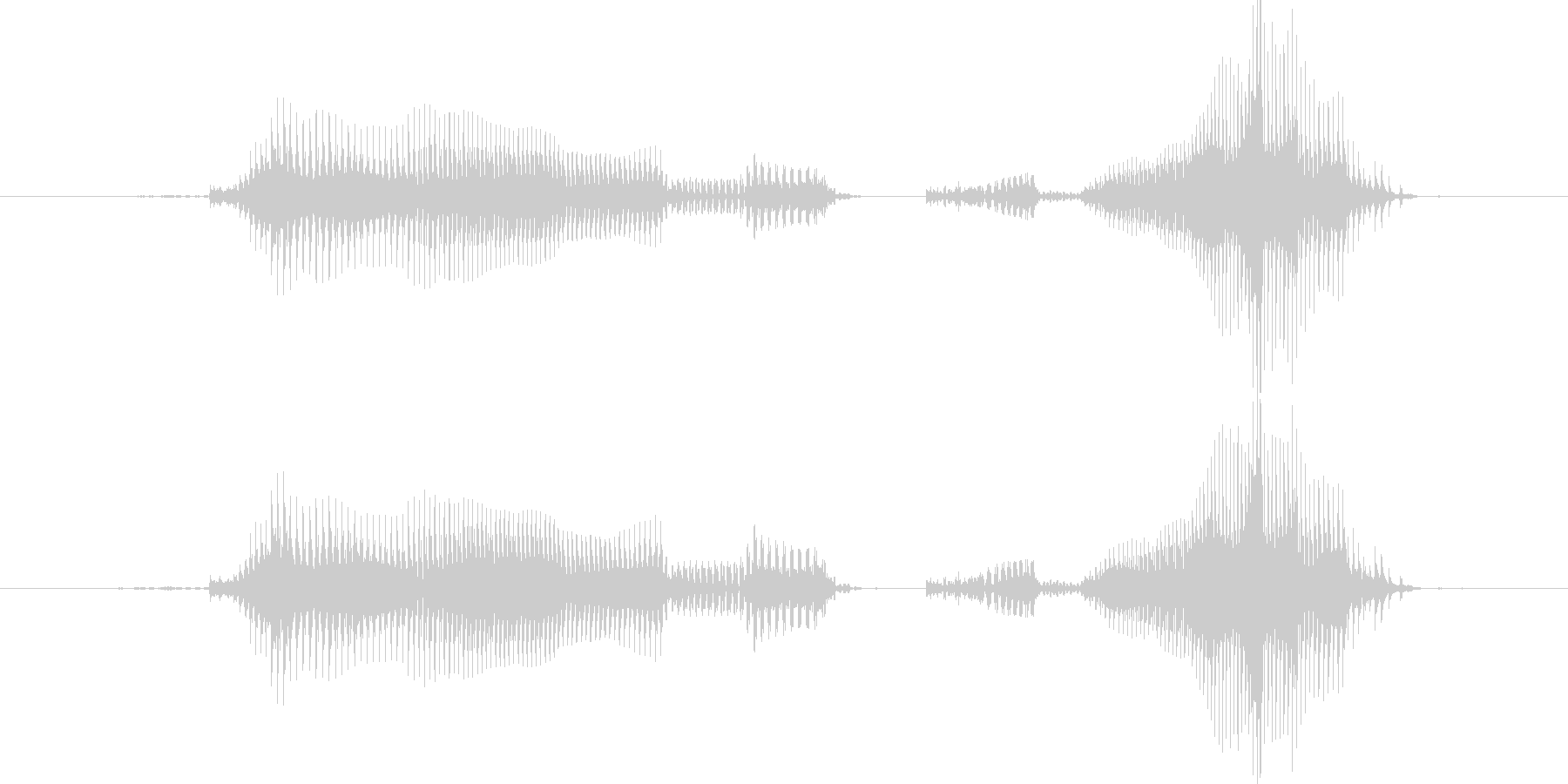 ゲームクリアの未再生の波形