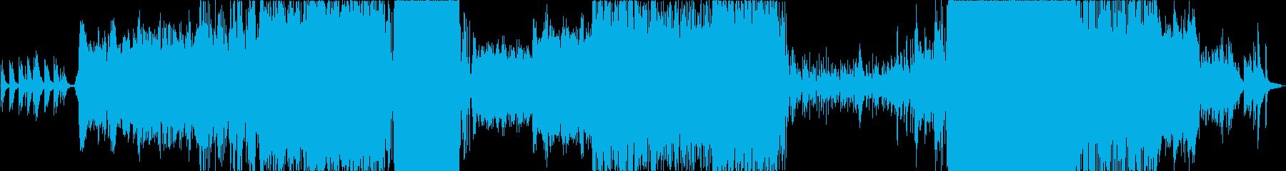 ピアノとコーラスを主体とした壮大な楽曲の再生済みの波形
