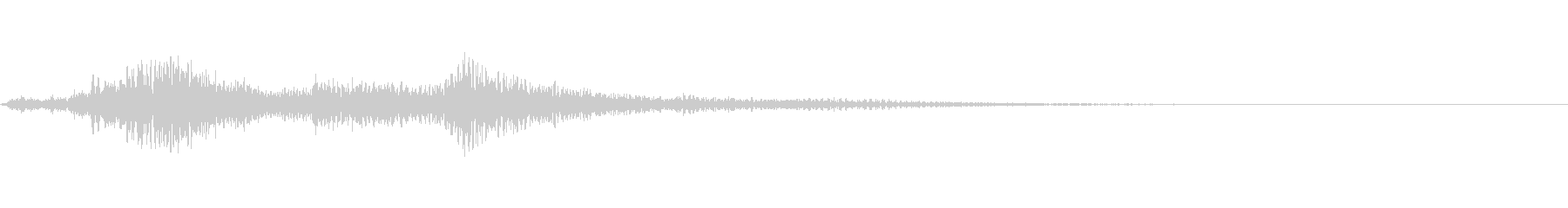ハープの音色で変身の未再生の波形