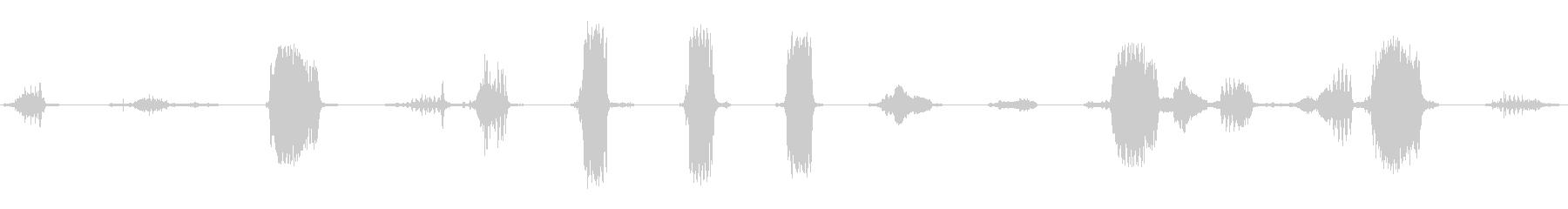 さまざまなシングルシープブリーツの未再生の波形