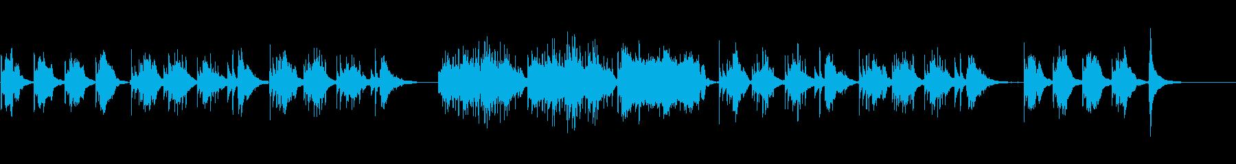 生演奏クラシックギター悲しい暗い映像用の再生済みの波形