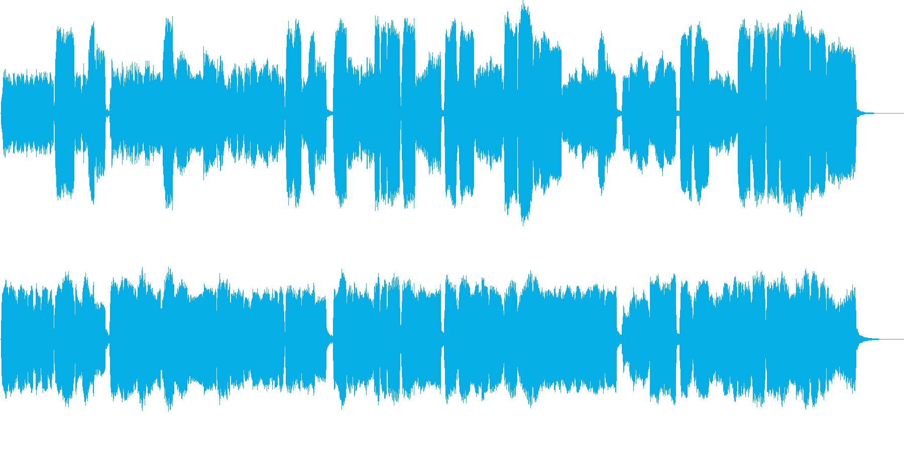 アンビエント教会オルガンのメロディ...の再生済みの波形