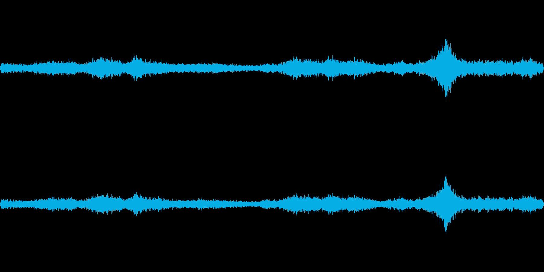 台風の日の室内環境音2bの再生済みの波形
