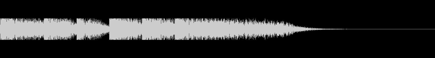 ピアノソロ ジングルの未再生の波形
