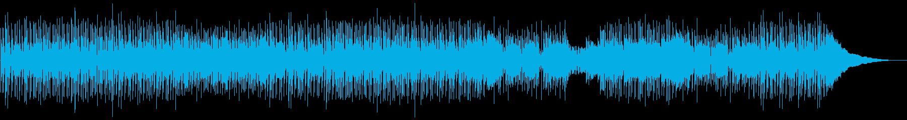 エネルギッシュなインディーロックトラックの再生済みの波形