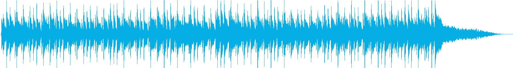 キャッチーなピアノのポップフュージョンの再生済みの波形