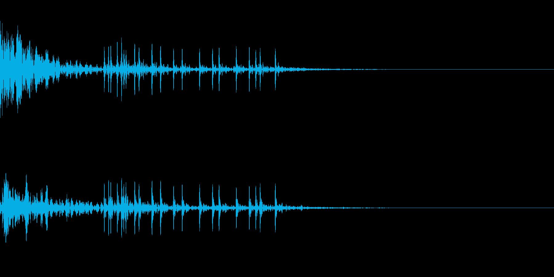 ドーン!(打ち上げ花火)その3の再生済みの波形